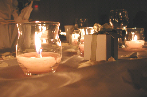 Candles and favours